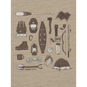 super.natural Camping Gear Tee Men, beige
